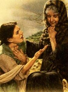 Ilustração de Rute e Noemi