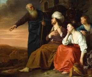 """The Laborer of Gibea Offering Hospitality to the Levite and His Wife"", de Daniel Jansz Thievaert"